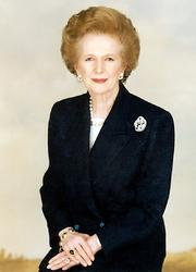 Portrait of Margaret Thatcher (click to view image source)