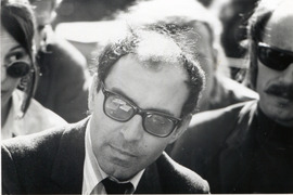Portrait of Jean-Luc Godard (click to view image source)